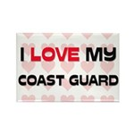 I Love My Coast Guard Rectangle Magnet
