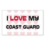 I Love My Coast Guard Rectangle Sticker