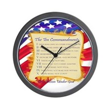 Ten Commandments Wall Clock