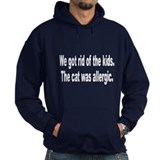 Cat Allergy Kid Humor (Front) Hoody