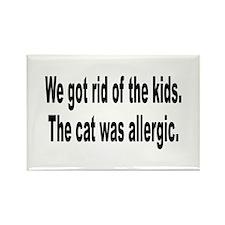 Cat Allergy Kid Humor Rectangle Magnet