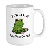 FROG Fully Rely On God Ceramic Mugs