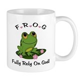 FROG Fully Rely On God  Tasse