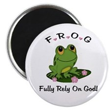 "FROG Fully Rely On God 2.25"" Magnet (100 pack)"