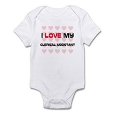 I Love My Clerical Assistant Infant Bodysuit