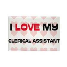 I Love My Clerical Assistant Rectangle Magnet
