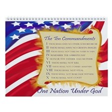 Ten Commandments 12 Month Wall Calendar