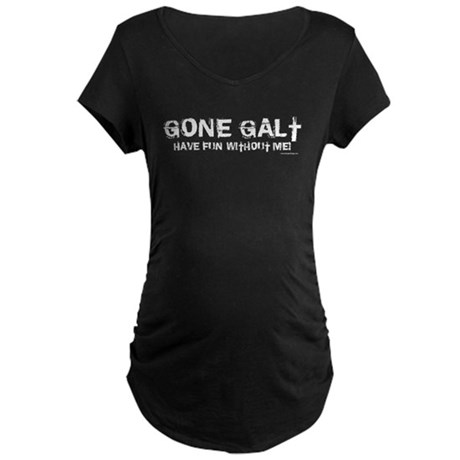Gone Galt Maternity Dark T-Shirt