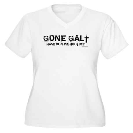 Gone Galt Women's Plus Size V-Neck T-Shirt
