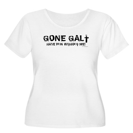 Gone Galt Women's Plus Size Scoop Neck T-Shirt