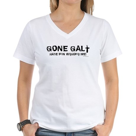 Gone Galt Women's V-Neck T-Shirt