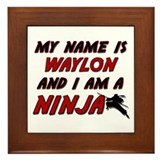 my name is waylon and i am a ninja Framed Tile