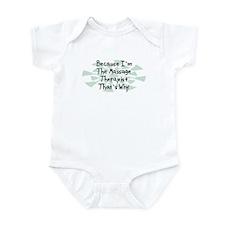 Because Massage Therapist Infant Bodysuit