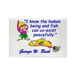 Humans and Fish Rectangle Magnet
