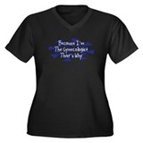 Because Gynecologist Women's Plus Size V-Neck Dark