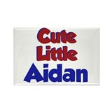 Cute Little Aidan Rectangle Magnet