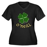 Irish O'Neill Women's Plus Size V-Neck T-Shirt