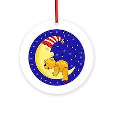 Sleepytime Bear Ornament (Round)