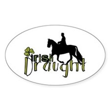 Irish Draught Horse Oval Decal