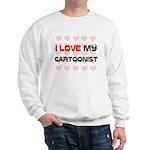 I Love My Cartoonist Sweatshirt