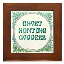 Ghost Hunting Goddess Framed Tile