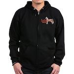Saddlebred Horse Zip Hoodie (dark)