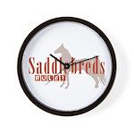 Saddlebred Horse Wall Clock