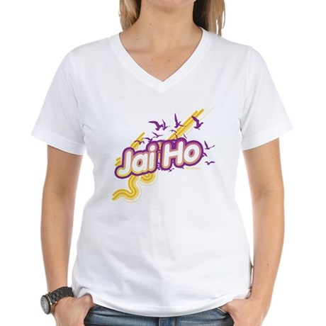 Jai Ho Women's V-Neck T-Shirt