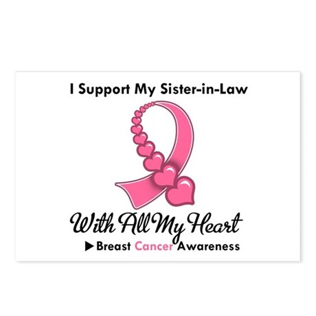 BreastCancerSister-in-Law Postcards (Package of 8)