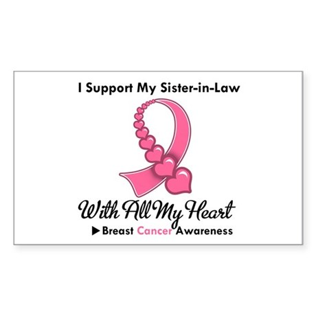 BreastCancerSister-in-Law Rectangle Sticker 10 pk