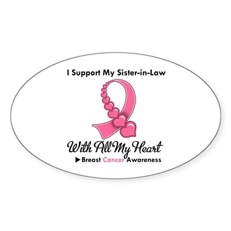 BreastCancerSister-in-Law Oval Sticker (50 pk)