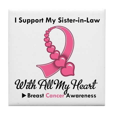 BreastCancerSister-in-Law Tile Coaster