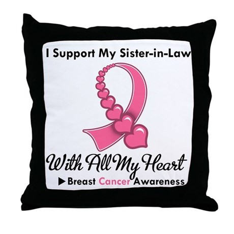BreastCancerSister-in-Law Throw Pillow