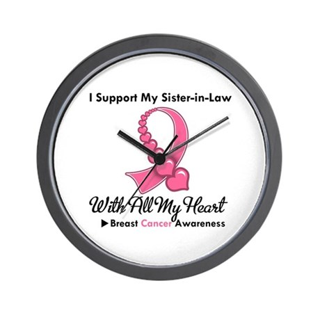 BreastCancerSister-in-Law Wall Clock