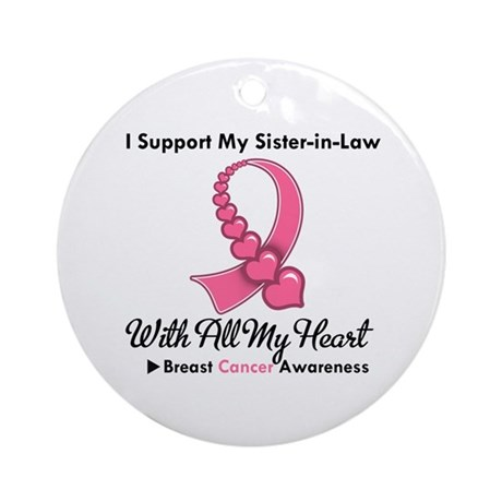 BreastCancerSister-in-Law Ornament (Round)