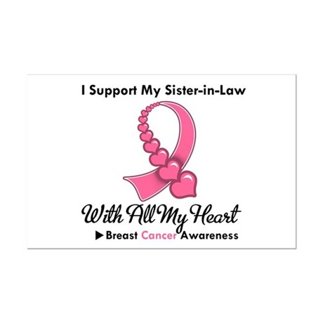 BreastCancerSister-in-Law Mini Poster Print
