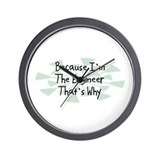 Because Engineer Wall Clock