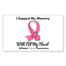 BreastCancerSupportMommy Rectangle Decal