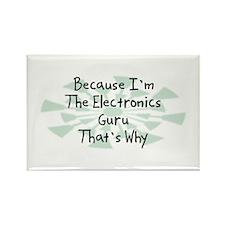 Because Electronics Guru Rectangle Magnet (10 pack