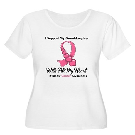 BreastCancerGranddaughter Women's Plus Size Scoop