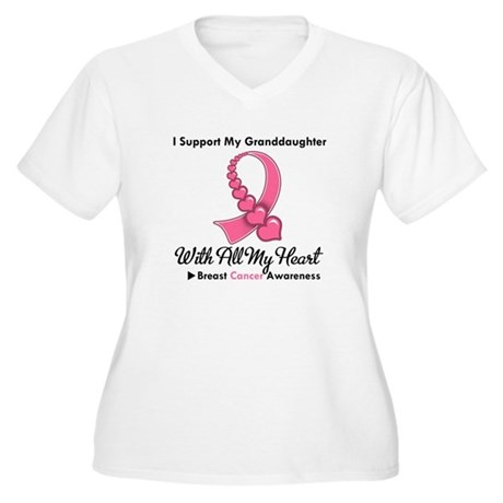 BreastCancerGranddaughter Women's Plus Size V-Neck