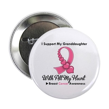 "BreastCancerGranddaughter 2.25"" Button (100 pack)"
