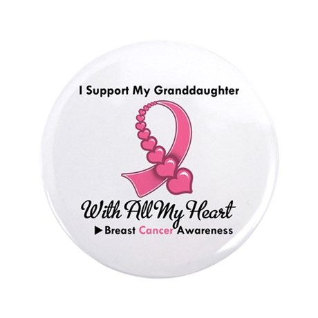 "BreastCancerGranddaughter 3.5"" Button (100 pack)"