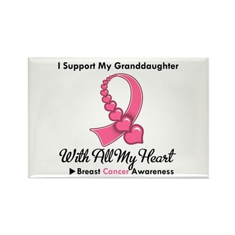 BreastCancerGranddaughter Rectangle Magnet (100 pa
