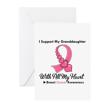 BreastCancerGranddaughter Greeting Cards (Pk of 10