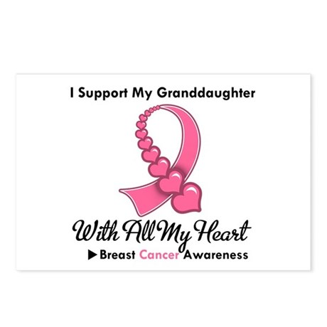 BreastCancerGranddaughter Postcards (Package of 8)