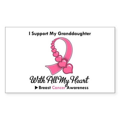 BreastCancerGranddaughter Rectangle Sticker 50 pk