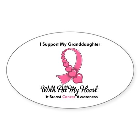 BreastCancerGranddaughter Oval Sticker (50 pk)