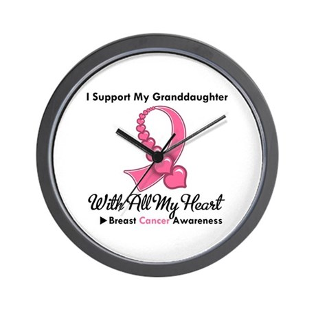 BreastCancerGranddaughter Wall Clock