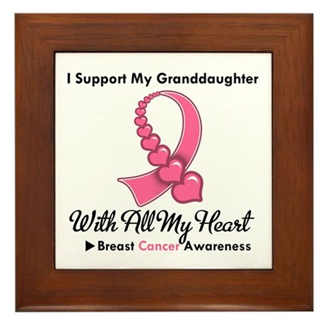 BreastCancerGranddaughter Framed Tile
